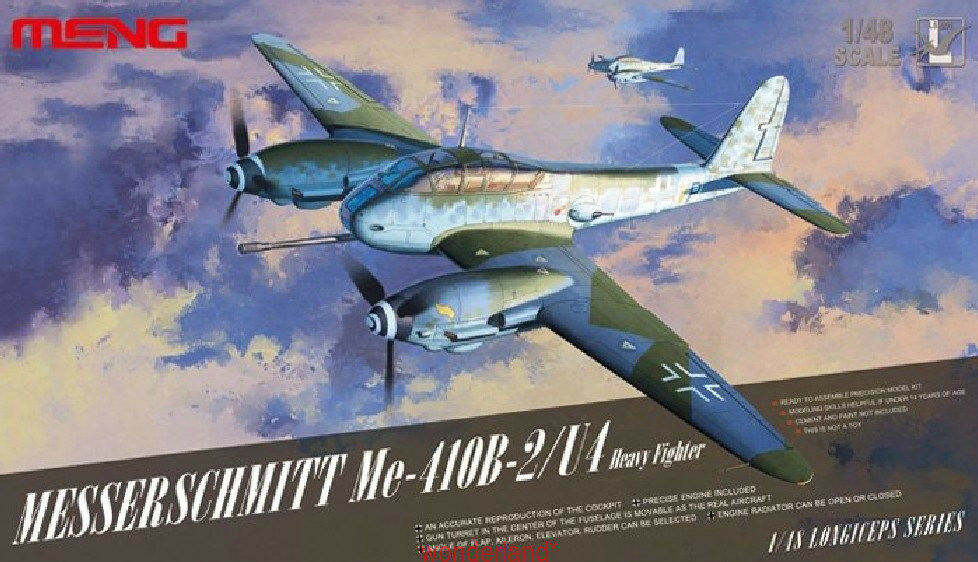 Meng Model 1 48 LS-001 Me-410B-2 U4 1 48 MesserschmittHeavy Fighter Aircraft