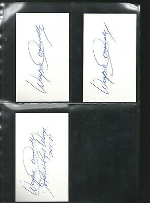Inventive Wayne Connelly Autograph/auto/hand-signed Index Card 3x5 3