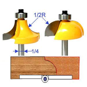 2 pc 1//2 SH 5//8 Radius Drop Leaf Table Router Bit Set