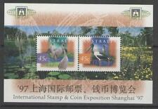 Australie 1997 flora fauna vogel bloem  blok opdr shanghai  postfris/mnh