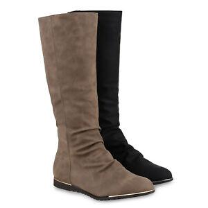 Schuhe 813303 Flache Details Winterstiefel Boots Gefütterte Zu Warm Damen Stiefel 8nmN0wOv