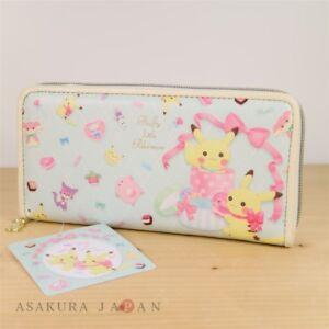 Pokemon-Center-Original-Fluffy-poco-billetera-larga-Pikachu-Purrloin-Chansey