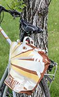Fastrider Shopper Summertime Tan Bike Pannier Bag 25.5l Water Resistant on sale