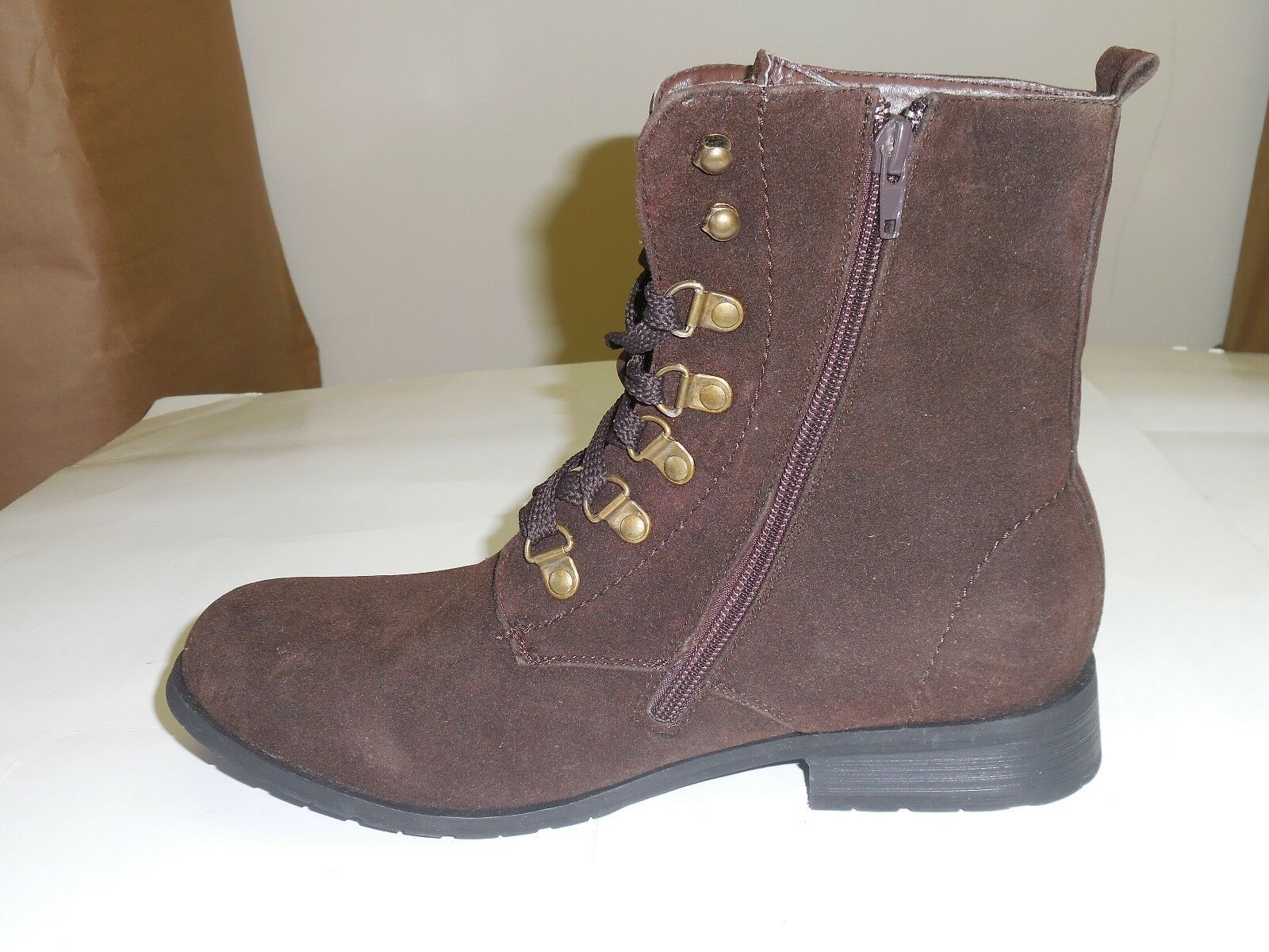 Forever Forever Forever Women's Dark Brown Suede Side Zip Up Mid Calf Fashion Boots Sizes 5-10 6f87f1