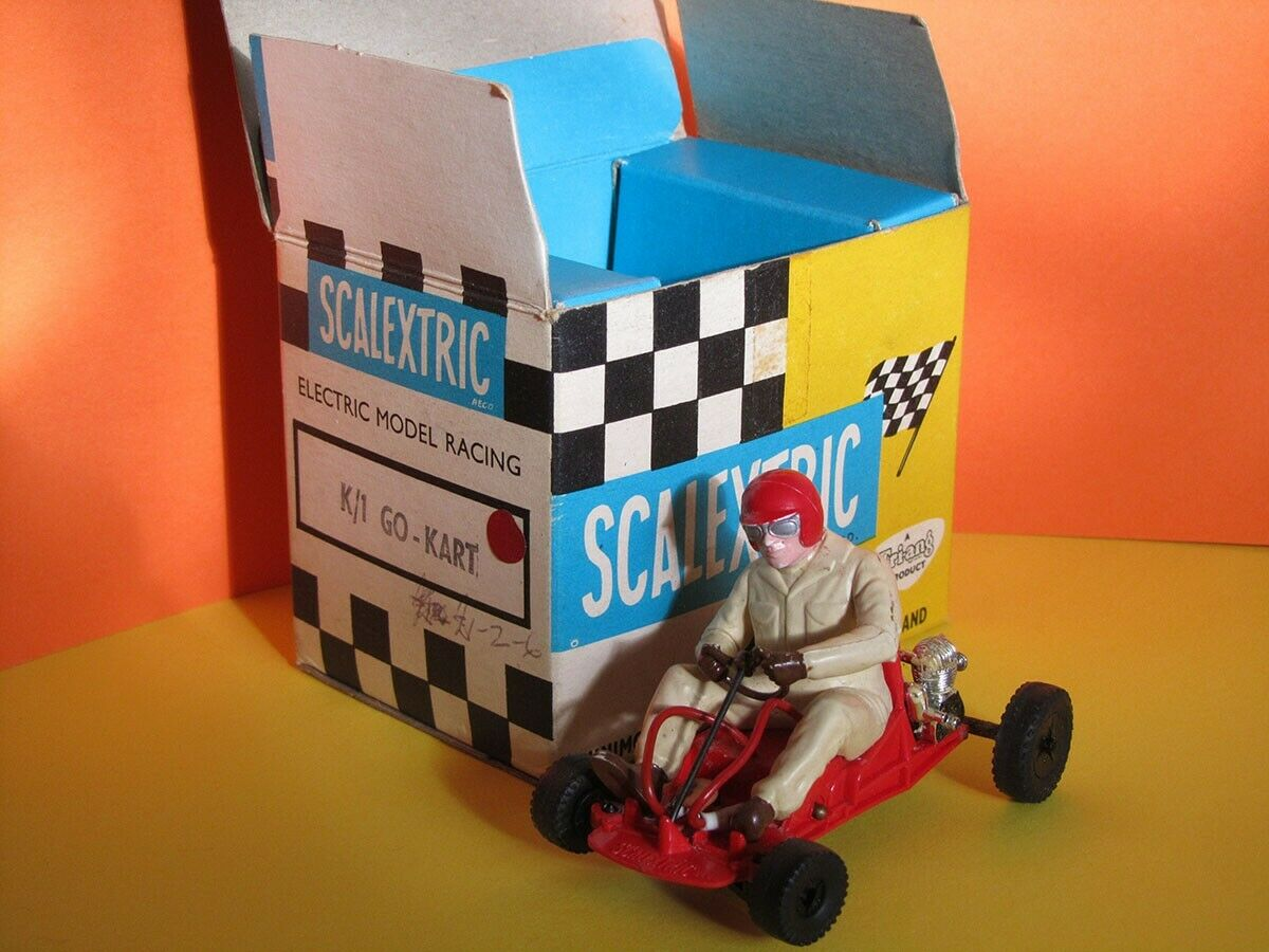 Scalextric K 1 Kart. Boxed. Strong runner. Mid-1960s, highly-collectible