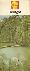 Callaway Gardens Georgia Map.1963 Shell Oil Callaway Gardens Road Map Georgia Savannah Macon