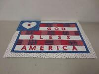 Set Of 12 - Hometrends god Bless America Country Americana Place Mat