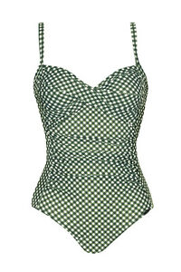 brand new d3c27 90e49 Details zu Sunflair Badeanzug Einteiler grün weiß Karo Gr. 40 C 44 C NP  99,99 €