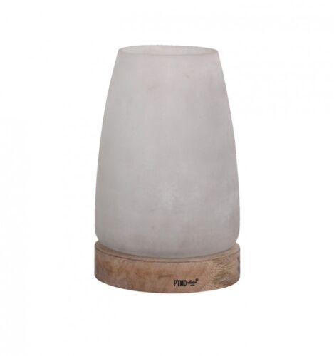 PTMD Windlicht /'White/' aus Glas 24 cm