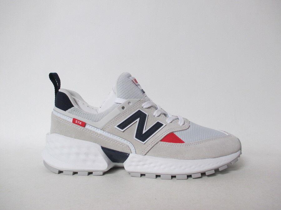 New Balance 574 Grey Navy bluee Red White Fresh Foam Sz 10 MS574GNC