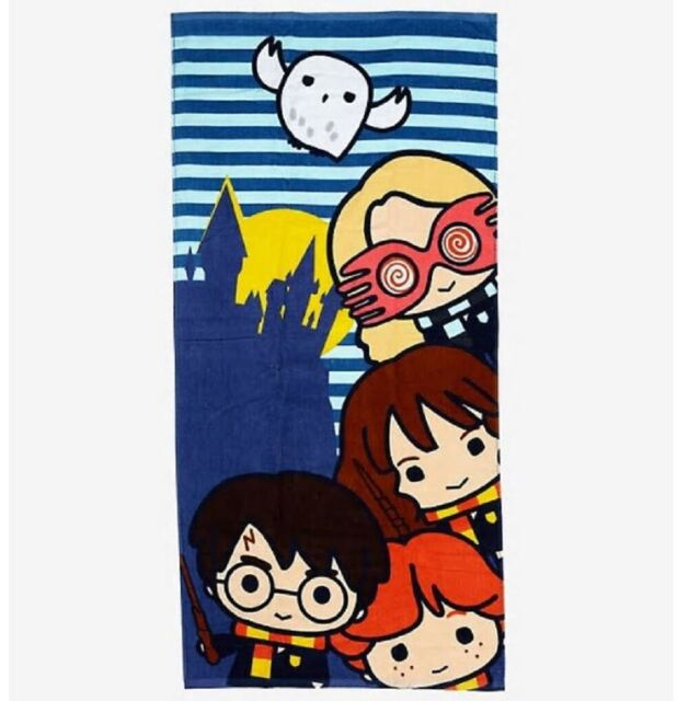 Jerry Leigh Harry Potter Hogwarts Crest Bath and Beach Towel 58 x 28 Red Yellow