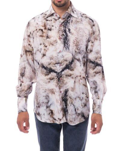 Billionaire Couture Men/'s Shirt Multi-Color R Fit Flavio Silk 100/%  size 43-45