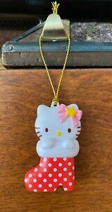 "'11 Sanrio Hello Kitty Miniature Stocking figurine plastique Noël Ornement 2"""