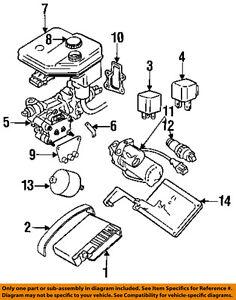 jaguar oem 92 96 xjs abs anti lock brakes relay dac4506 2000003456 rh ebay com