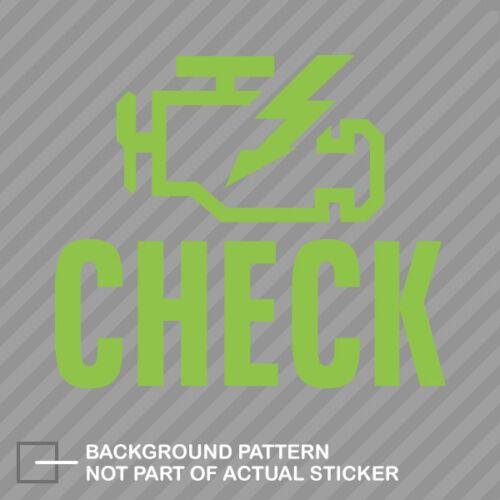 CEL Sticker Die Cut Decal Check Engine Light
