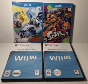 Lot-Of-4-Nintendo-Wii-U-Games-Pokken-Splatoon-Smash-Mario-Maker-Tested