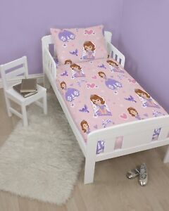 on sale f0eea c645d Details about Disney Sofia The First Academy Cot Bed, Junior Bed, Toddler  Bed Duvet Cover Set