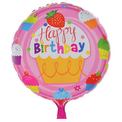 Foil BALLOON 45cm Round Happy Birthday #3 Balloon Birthday Party Decoration