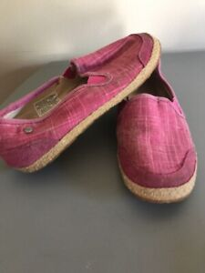 f74b79ea158 Details about Youth Girls Pink Canvas UGG Slip On Athletic Sneakers Shoes  Toms Like Sz 1Y