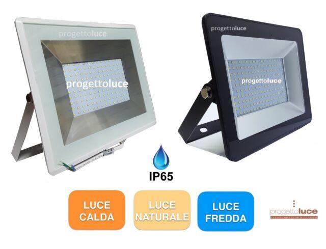 V-TAC FARO FARETTO LED SMD 100W ULTRA SLIM IP65 BIANCO O NERO 3000K 4500K 6500K