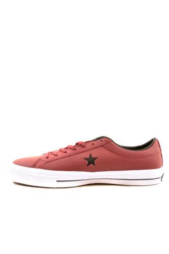 Converse blanc £ 153715c Leather noir Star 76 Block Uk12 One Red Bcf86 Rrp Unisexe Aw8rA