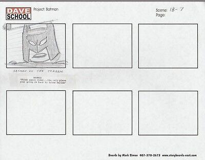 Other Original Comic Art 2004 Lego Batman Storyboard Art By Mark Simon Vf 8.0 Batman Scene 18-7 Online Shop Comics