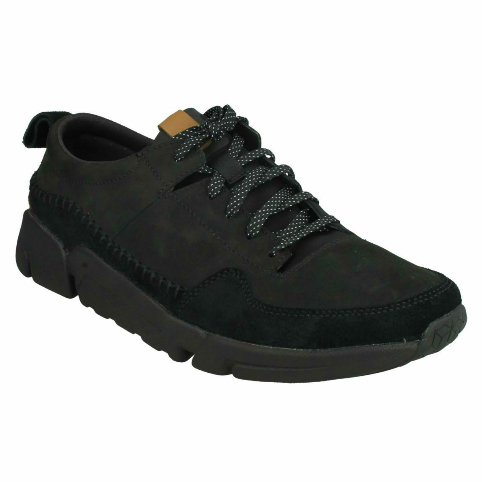 TRI ACTIVE RUN  Herren CLARKS LEATHER LACE UP LIGHTWEIGHT CASUAL SPORTY TRAINERS