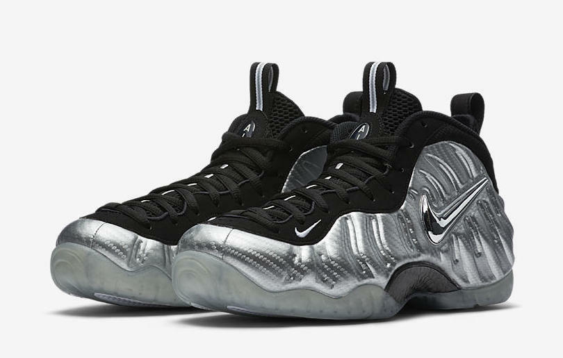 Nike Air Foamposite Pro Silver Surfer Size 8-12 Metallic Silver Black 616750-004