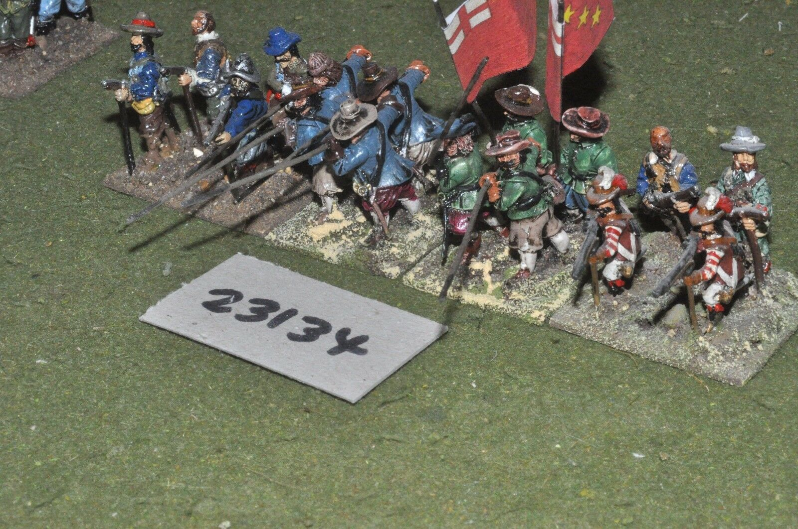 25mm ECW   royalist - pike & shot 16 figures - inf (23134)