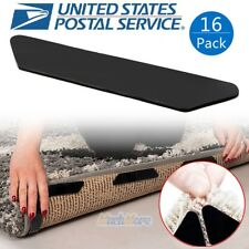 16 Pack Rug Grippers Stopper Anti Slip Rubber Corner Mat Washable Carpets Pad US