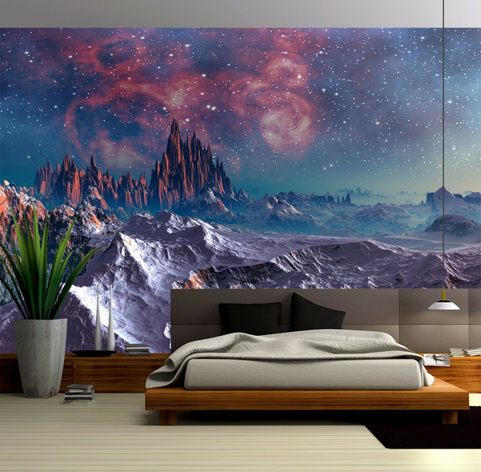 3D Star volcano 2433 Wall Paper Wall Print Decal Wall Deco Indoor Wall Murals