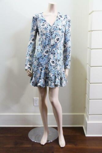 2019 Nuevo Vestido Auth Veronica Barba Riggins en Azul Multi $550