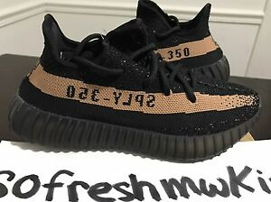4e8e2a56a Adidas Yeezy Boost 350 V2 Core Black Copper Sz 4 W Receipt! Red ...