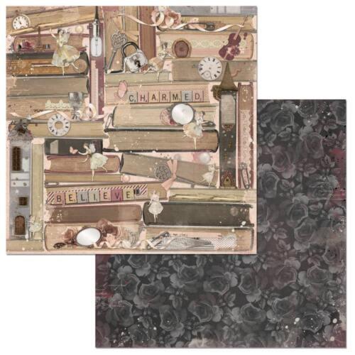"BoBunny Charmed double-sided Cardstock 12x12/"" diseños diferentes 30,5x30,5 cm"
