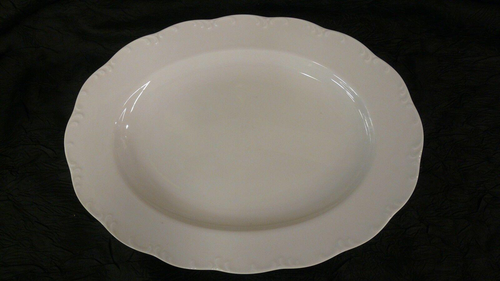 Porzellan Schüssel Servierschüssel Schale oval  weiß Obstschale ca.30,5x16,5 cm.