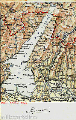 Lago Di Garda Cartina Geografica.Verona E Il Lago Di Garda Cart Cartina Geografica Ebay
