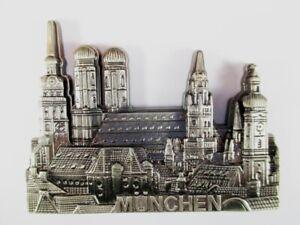 Muenchen-Munich-Germany-Ansicht-Metall-Magnet-Souvenir-Deutschland