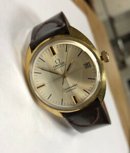 Vintage-Omega-Automatic-Seamaster-Cosmic-Gold-Top-Watch-Running