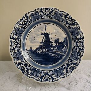 Delft-Blue-Handpainted-Deco-Plate-Made-in-Holland
