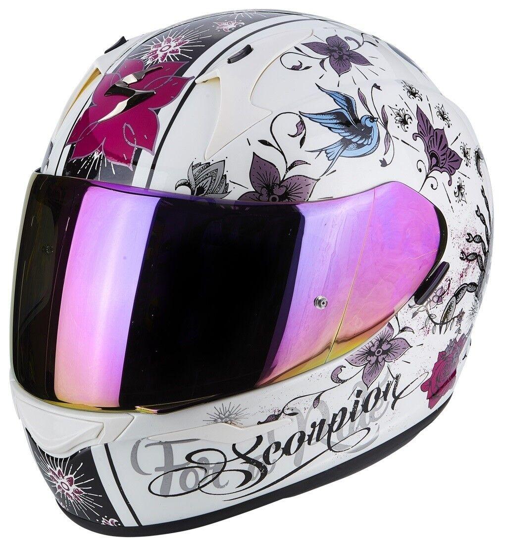 Schwarz//Pink Gr/ö/ße S Scorpion Motorradhelm Exo 390 Chica