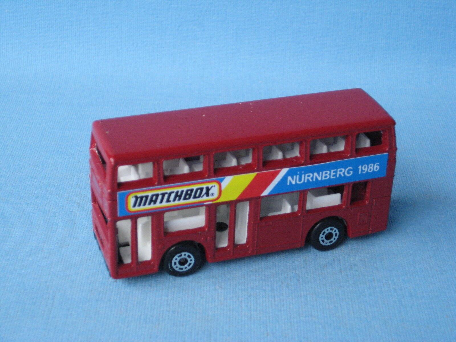 Matchbox MB-17 Titan Bus Nurnberg Trade Fair 1986 Maroon Pre-production Pre-pro