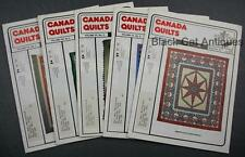 Lot of Five Canada Quilts Magazines 1986 Issues 62 To 66 Vol. XV No 1 2 3 4 5