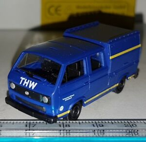 ROCO-MINITANKS-4120-CAMION-VOLKSWAGEN-VW-T3-VAN-DOKA-THW-MODELISMO-1-87-HO-NEUF