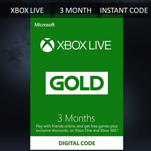 3-MONTH-XBOX-LIVE-GOLD-MEMBERSHIP-MICROSOFT-XBOX-360-XBOX-ONE-FAST-DISPATCH