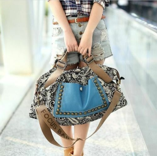 100% Handmade Hobo Satchel fashion bag Tote leather purse shoulder handbag Women