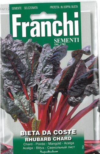 Franchi Seeds Swiss Chard Bieta da Coste Rhubarb seed