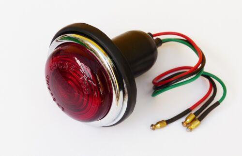 3H1814 Véritable Lucas L488 rouge stop et Queue Lampe Avec Verre Lentille