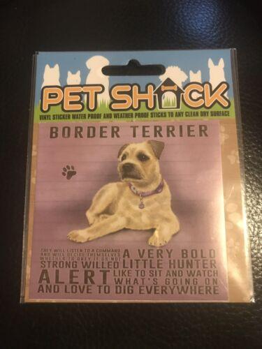 Pet Shack Border Terrier Sticker Brand New