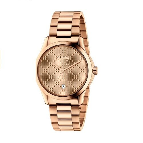 conrad gold unisex products rose charles white leather watch watches