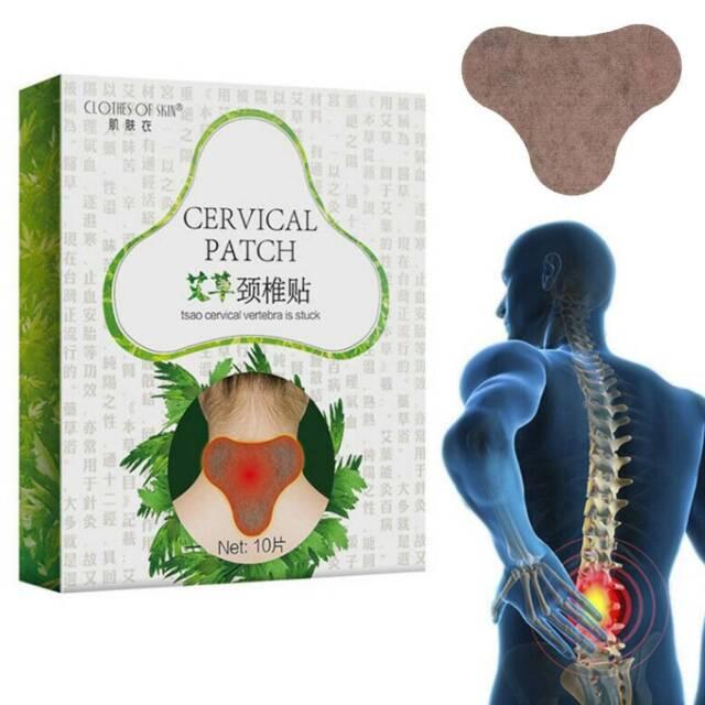 10Pcs Wormwood Pain Relief Plaster Patch Shoulder Cervical Spondylosis Arthritis